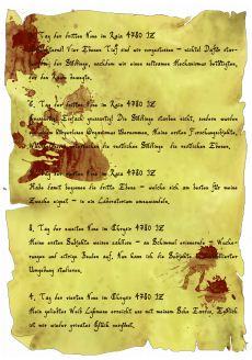 Tagebuchseite von Marc Jenneße und Hannah Möllmann