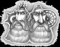 Borbarad und Rohal - die Schutzpatrone unserer Rezensions- und Disput-Spalte.