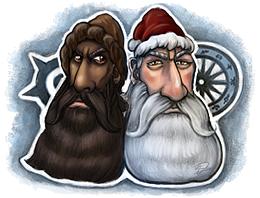 Zu Weihnachten leben Borbarad und Rohal hier immer ihren geheimen Cosplay-Drang aus.