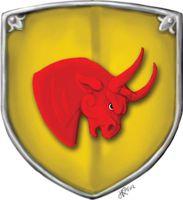 Der rote Bulle von Rommilys - man sagt, er jagt Einhörner ins Meer! (von Janina Robben)