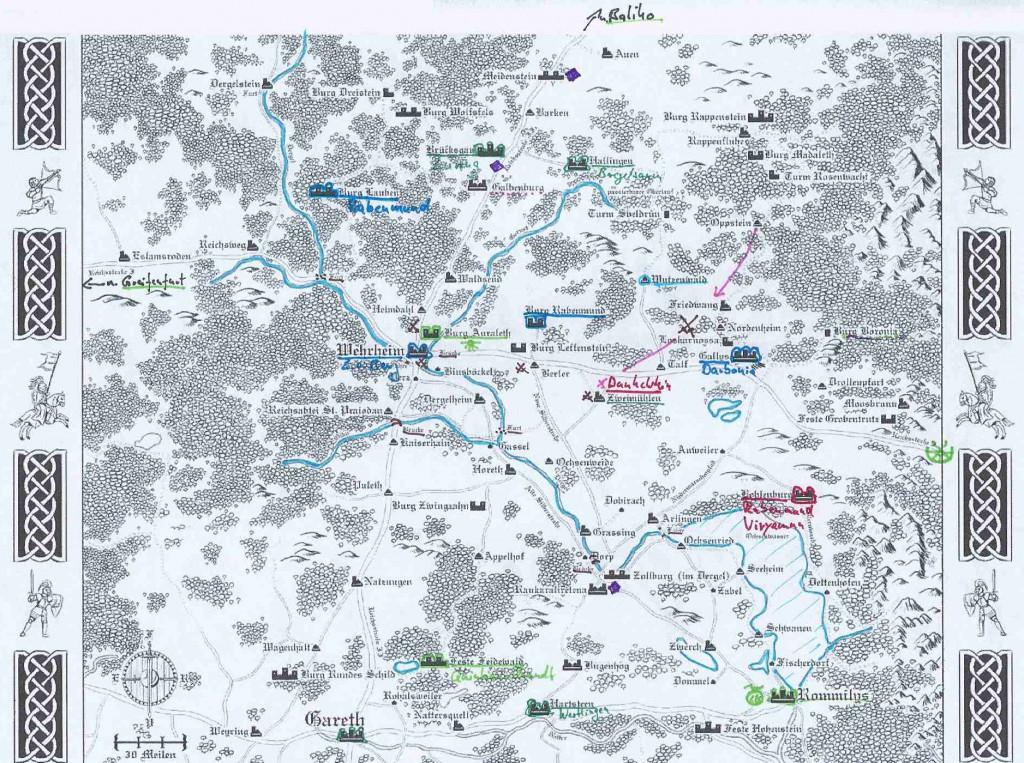 Strategische Karte der Wildermark (beschriftet)