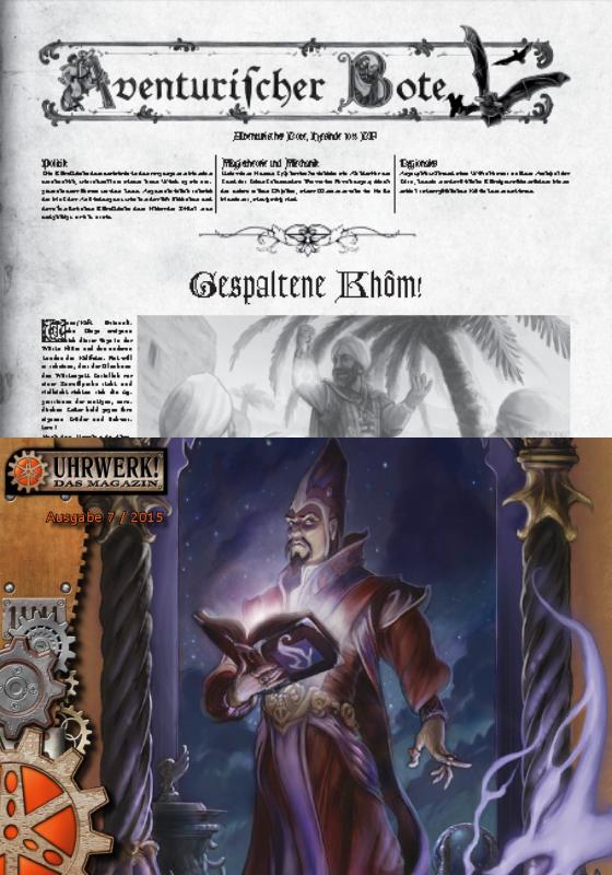Gazettendisput 1 - Aventurischer Bote 173 & Uhrwerk Magazin 7