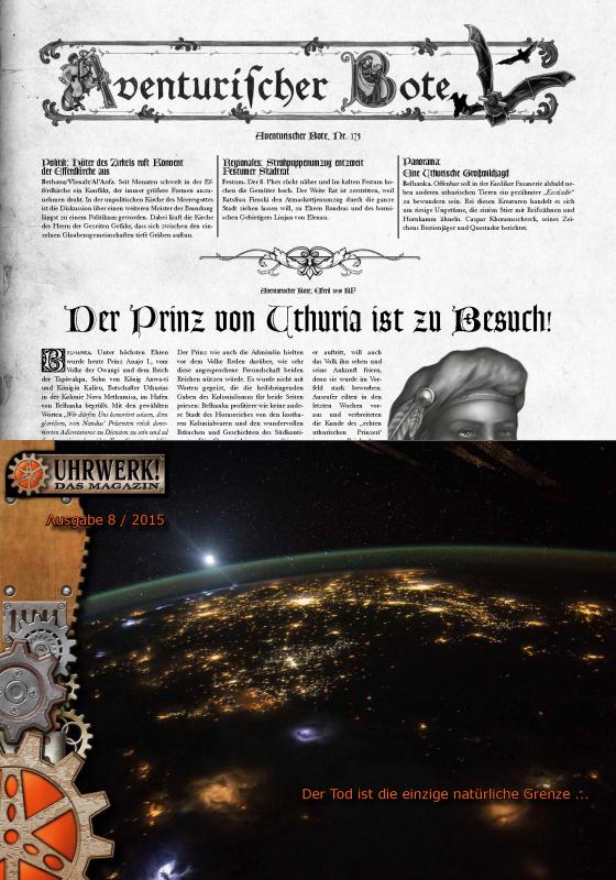 Gazettendisput 3: Aventurischer Bote 175, Kibakadabra & Uhrwerk!-Magazin 8