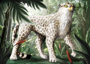 Der Retter in der Not - halb Falke, halb Parder und magiebaweisendes Fell: Der Greifparder. (von Janina Robben)