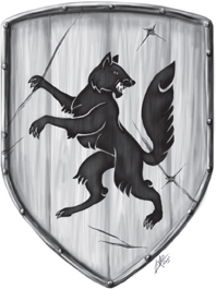 Der Schild des Reiches hat auch schon bessere Zeiten gesehen - Wappen Paavis von Janina Robben.