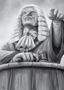 Den Vorsitz führt der ehrenwerte Richter Jodruan Mallorn