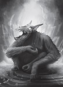 Da weint der Dämon eisige Tränen: Ohne Resistenz und Geisterpanzer einfaches Heldenfutter. Dämon Bragarm von NN.