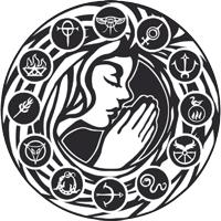 Zwölfkreis mit Betender Liber Liturgium