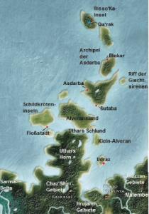 Das neuen Urlaubsziel der Südsee: Der Asdabra-Archipel.