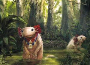 Wenn nichts mehr geht, geht's mit Zilit: Axolotl, die Geschichts-Molche. Von Jennifer Lange.