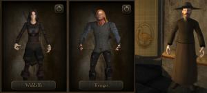 The good, the bad and the ugly - Krallenelfe, Schulterkrieger und der Travia-Geweihte, den man als ersten NPC zu Gesicht bekommt.