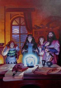 Personalisierte Lichtzauberey: Die magischen Randgruppen arbeiten am Flim Flam Marke Sonnenecht, um den Praioten das Lichtmonopol streitig zumachen. (Von Ugurcan Yüce)