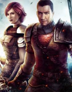 Cairan und Calandra, die Hauptfiguren des Spiels.