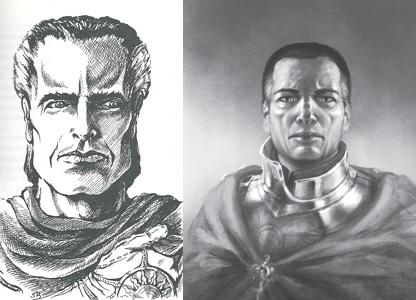 Oberst Marcian im Jahr 1993 (links, von NN) und im Jahr 2013 (von NN)