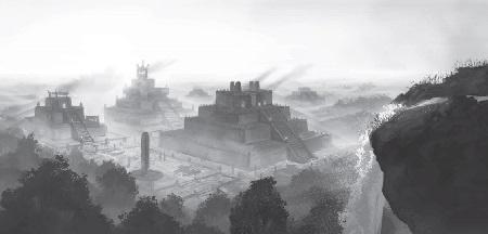 Die Stadt Amakun erwartet die Helden dann im 2. Teil der Kampagne (Bild von Christian Schob)