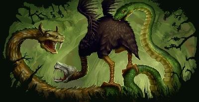 Doppelkopf vs. Todrichter - kein Kartenspiel, sondern der Kampf zweier uthurischer Monster (von Michael Jaecks)
