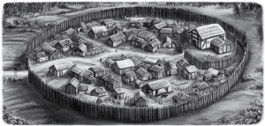 das Dorf Schwarzmoos von Diana Rahfoth