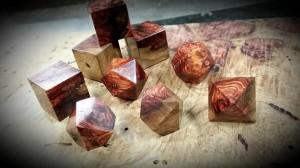 Artisan Dice - Kamphi Rosewood Burl (Polyhedral Set)