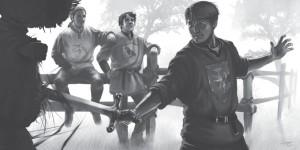 Volltreffer: Die drei Rabauken Jarlak, Tsayan und Folkwin (von Tristan Denecke)
