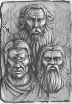 Die Gesichter des Gottes - von Tristan Denecke