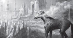Braves Pony... Gloranas ehemaliges Reittier vermisst seine Herrin sehr, würde als Fleischesser aber sicherlich die Hand fressen, die es füttern will (von NN).