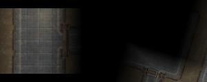 Revealed by Automap: Links eine Geheimtür, die in der 3D-Ansicht nicht zu erkennen ist, rechts ein noch nicht erkundeter Raum,d essen Ausmaße aber schon ziemlich klar sind.