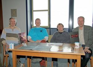 Bild vom Tharun-Workshop: von rechts: Marcus Jürgens, Arne Gniech