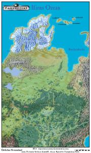 Der Hohe Norden mit Paavi und Bjaldorn (Karte des Ulisses-Kartenpakets, zur Verwendung siehe die Kartenpaket-Lizenz.)