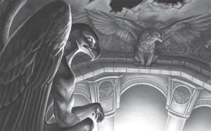 Blickt würdevoll auf Gareth herab: Gagol, Tempelschmuck