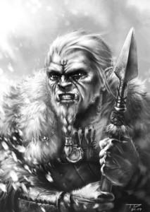 Weißpelz des Anstoßes - der orkische Bote Firuns, oder wie er ihn nennt: des Stummen Jägers. Von Trsitan Denecke.