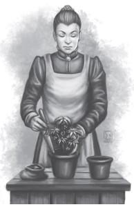 Wie Markgraf Sumudan, nur weniger kompetent und liebenswert: Botanikerin und Ersatzgouverneurin Daria ya Dergamon (von Elif Siebenpfeiffer)