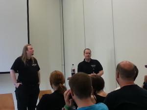 Jens Ullrich und Alex Spohr im DSA5-Beta-Workshop.