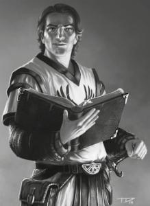 Das neue Gesicht an der Spitze: Saltarez Bahram von Jurios, der neue Großmeister der Golgariten (von Tristan Denecke).