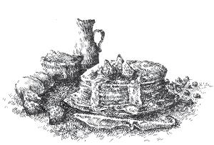 Vignettenzeichnung aus der Culinaria (von X)