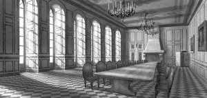 Hell und licht - so sah es hier früher aus. Der Speisesaal von Schloss Strobanoff von N.N.