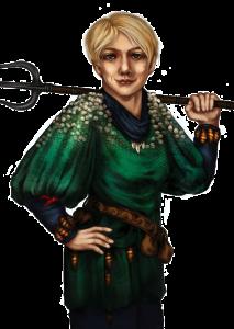 Theria hat ein Schuppenproblem, steht aber auf Helden, die ihr ihren gigantischen, blau leuchtenden Gwen Petryl zeigen wollen (von NN).