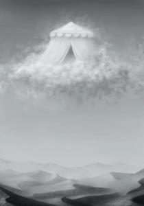Das WahreTM Himmelszelt: Für viele nur eine Wolke, für Novadis der Ort von Rastullahs Offenbarung (Bild von NN).