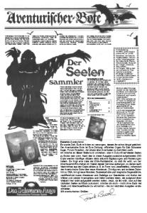 Nach 172 Ausgaben hat er genug: Der Seelensammler, der den Boten seit 1985 zum Diebstahl der Leser-Seelen nutzt (Ja, er hat auch deine! Gedenket der Seelen der Magier!), bricht nun zu neuen Ufern auf.