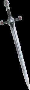 Das Schwert - die klassische Waffe im Kampf. (Bild von Karin Wittig).
