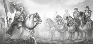 Nicht als Nakedei unterwegs: Kaiserin Rohaja beim Ansprechen (von Nadine Schäkel)
