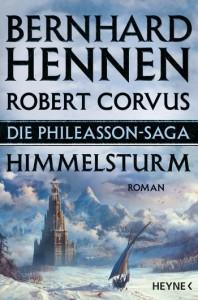 Wohl definitiv einer der exotischsten Orte des Kontinents, vielleicht sogar ganz Deres: Der Himmelsturm (Cover des kommenden Romans von Bernhard Hennen und Robert Corvus)