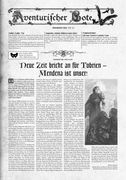 Gazettendisput 2: Aventurischer Bote 174