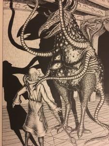 ...und ganz früher hatte er diese (Schreck-)Gestalt (Buch der 11x11 Zauber, Ina Kramer)