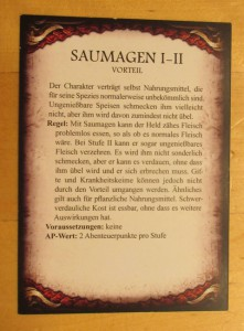 Regelkarte mit Saumagen