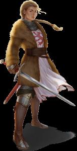 Eine der Figuren, die im Laufe der Kampagne wohl noch an wichtiger Stelle auftreten wird, aber dann nicht mehr unbedingt auf Seiten der Helden: Die Rondrageweihte Leudara Argentalis von Firunen. Bild von NN