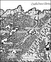 Lorthalion, gefühlte 98% sind von Wald bedeckt. Dazwischen überwiegend Wasser; Ulisses Spiele