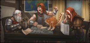 DSA-Helden als Spieler am Rollenspieltisch