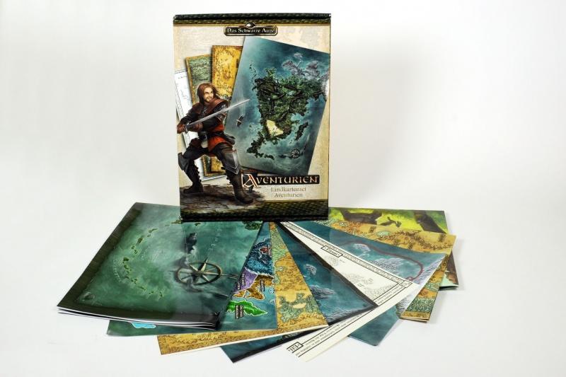 Das Landkartenset Aventurien mit seinen sieben Karten