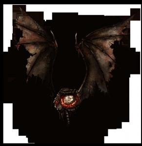 Ein Gotongi-Dämon mit zwei Flügeln und einem Auge