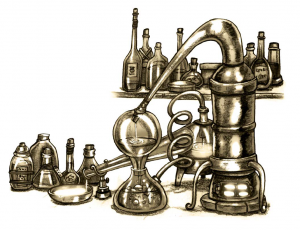 Ein Alchimielabor